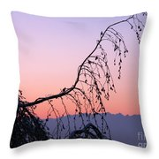 Mountains At Dusk Throw Pillow