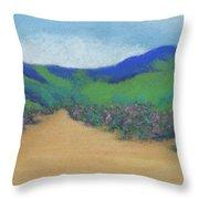 Mountains At Moholoholo Throw Pillow
