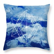 Mountains, Clouds And Geometry Throw Pillow