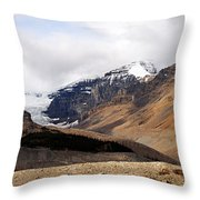 Mountains Clouds And Glaciers 2 Throw Pillow