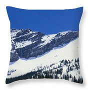 Mountains Covered With Snow, Little Throw Pillow