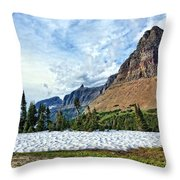 Mountains In Glacier National Park 2 Throw Pillow