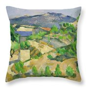 Mountains In Provence Throw Pillow by Paul Cezanne