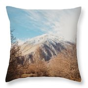 Mountains In The Background Xvi Throw Pillow