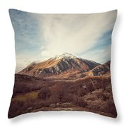 Mountains In The Background Xvii Throw Pillow