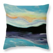 Mountains Clouds And Sea Throw Pillow