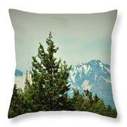 Mountains Of Oregon Throw Pillow