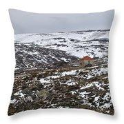Mountains Of Serra Da Estrela Throw Pillow
