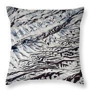 Mountains Patterns. Aerial View Throw Pillow