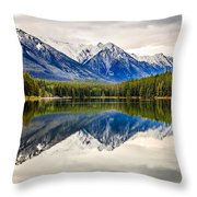 Mountains Reflected In The Lake Throw Pillow
