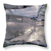 Mountains To The Sea Abstract Throw Pillow