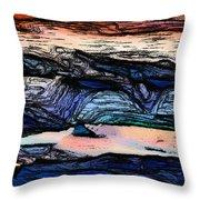 Mountains Valleys And Lake Throw Pillow