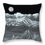 Mountains, When High Enough And Tough Enough, Measure Men.  Throw Pillow
