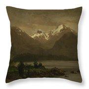 Mountains_and_lake Throw Pillow