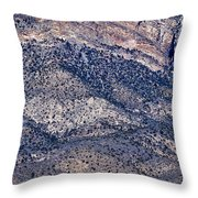 Mountainside Abstract - Red Rock Canyon Throw Pillow