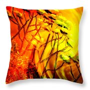 Mountainside Firestorm Throw Pillow