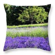 Mountainside Lavender Farm Throw Pillow