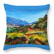 Mountainside Vineyard Throw Pillow