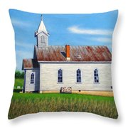 Mountain View Church Throw Pillow