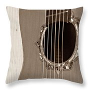 Mounted 6 String Throw Pillow