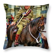 Mounted Infantry 2 Throw Pillow