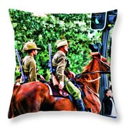 Mounted Infantry Throw Pillow