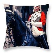 Mounted Life Guard Throw Pillow