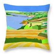 Mounts Bay Cornwall Throw Pillow