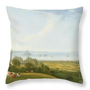 Mounts Bay From Ludgvan Throw Pillow
