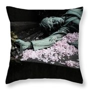 Mourner Statue Throw Pillow