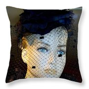 Mourning Millicent Throw Pillow