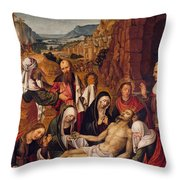 Mourning Over The Dead Body Of Christ Throw Pillow