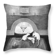 Mouse Hole Throw Pillow