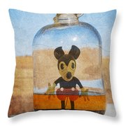 Mouse In A Bottle  Throw Pillow