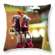 Mouse Love London Throw Pillow