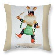 Mouse Throw Pillow by Mary Rogers
