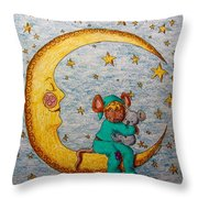 Mouse On The Moon Throw Pillow