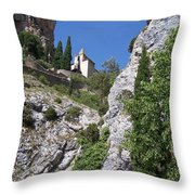 Moustier St. Marie Church Throw Pillow