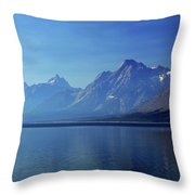 Moutains In Blue Throw Pillow