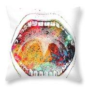 Mouth Anatomy Throw Pillow