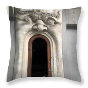 Mouth Doorway Throw Pillow by Nancy Ingersoll