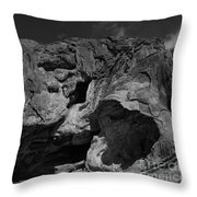 Mouth Of Rock Throw Pillow
