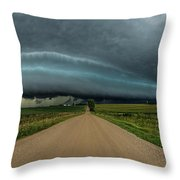 Mouth Of The Beast  Throw Pillow