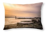 Mouth Of The Fraser Throw Pillow