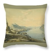 Mouth Of The River Angara  Throw Pillow