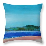 Mouth Of The River Exe Throw Pillow