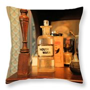 Mouth Wash In The Old Days Throw Pillow