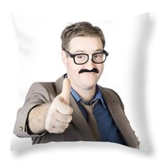 Movember Man Proud Of His Moustache Throw Pillow