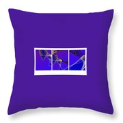 Movement In Blue Throw Pillow