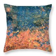 Movement Of Color Vii Throw Pillow